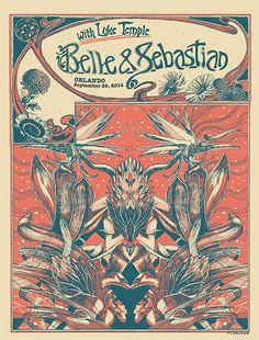 GigPosters.com - Belle & Sebastian - Belle And Sebastian - Luke Temple