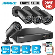 LOT 4~16 1080P Video Camera Outdoor IR Night Security System for TVI 5IN1 DVR BA