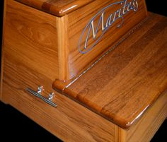 2-Step Teak Contour Box | Step Boxes | Our Collections | Release Marine, Inc