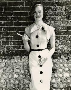 'More Taste than Money', Susan Abrahams wearing Jaegar for Vogue Magazine, July 1951 © Norman Parkinson/Gallery Vassie