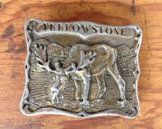 Vintage Yellowstone Moose Belt Buckle