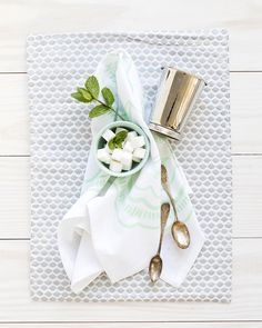 Southern Weddings Tea Towel. Product Photography and Styling by Shay Cochrane for the Southern Weddings Shop.
