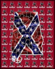 Crimson Tide Football, Alabama Football, Alabama Crimson Tide, Alabama Wallpaper, Sweet Home Alabama, Alabama Room, Flag Drawing, Ronnie Van Zant, Confederate Flag