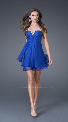 Beautiful sapphire blue dress