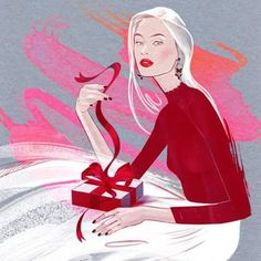 Иллюстрация для  S A N E R I B O X #alinagrinpauka #fashionillustration #beauty #beautybox #saneribox