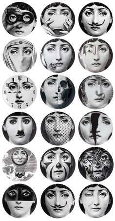 Fornasetti Plate -The Girl behind the Wallpaper - You definitely know her face, but do you know her story, her name, or that she even did actually exist? / By MessyNessy