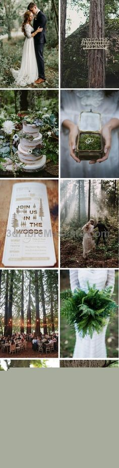 Create magical memories with a beautiful enchanted forest wedding palette for… #weddings #wedding #marriage #weddingdress #weddinggown #ballgowns #ladies #woman #women #beautifuldress #newlyweds #proposal #shopping #engagement
