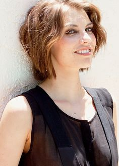 Lauren Cohan as Maggie Greene Maggie Greene, Lauren Cohan, The Walking Dead, The Vampire Diaries, Actress Photos, Celebrity Crush, Cute Hairstyles, American Actress, Movies