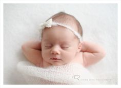 I love how Chic Critique features creative newborn poses