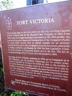 Fort Victoria plaque