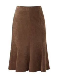 CC Petite tobacco cord stabstitch skirt Tobacco - House of Fraser