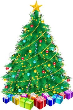 Nice Christmas Tree this nice christmas tree with presents clip art can be used for
