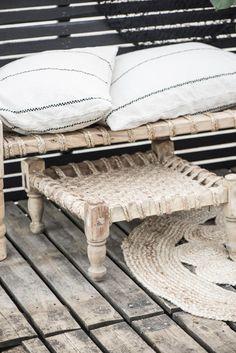 Cushion cover cream w/black stripes - Ib Laursen