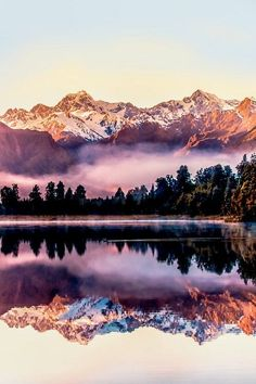 wonderous-world:   Lake Matheson, New Zealand by... - ⊕ radivs ⊕ #LandscapeMountain