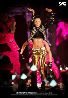 "Dara Reveals Toned Abs at ""All or Nothing"" World Tour Sandara 2ne1, Sandara Park, South Korean Girls, Korean Girl Groups, 2ne1 Dara, Perfect Abs, Killer Abs, Punk Disney, Abs Women"