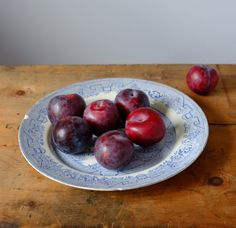 Willow Blue Plate Antique Blue Plates, Vintage China, Fruit, Antiques, Handmade Gifts, Etsy, Food, Blue Dishes, Antiquities