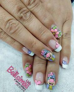 Nail Manicure, Mary, Beauty, Snails, Tutorials, Cartoon, Ideas, Designed Nails, Pretty Nails