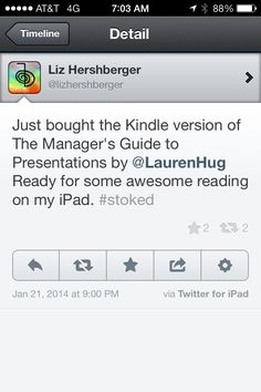 """Lauren's new book, """"The Manager's Guide to Presentations,"""" is now available! Get your copy from the Impackt Publishing website or Amazon. https://www.impacktpub.com/#!/search/category/2/book/62"""