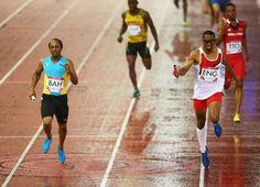 Matthew Hudson-Smith of England anchors his team to victory in 4x400m relay