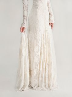 I just really love long sleeve wedding dresses.