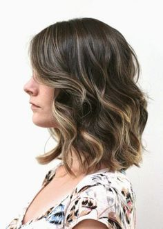 shoulder length ombre hair - Rich Golden Brown