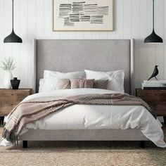 Beautiful Home Decor, Beautifully Priced - Alrai Upholstered Panel Bed, Informat. - Beautiful Home Decor, Beautifully Priced – Alrai Upholstered Panel Bed, Informations About Beauti - Modern Master Bedroom, Master Bedroom Design, Cozy Bedroom, Contemporary Bedroom, Master Suite, Bedroom Brown, Single Bedroom, Bedroom Storage, Beds Master Bedroom