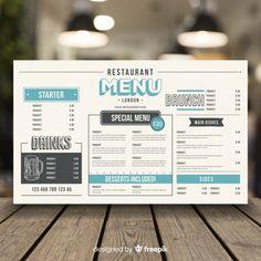 Restaurant menu in vintage style Free Vector - Quetzal - Restaurant Food Menu Template, Restaurant Menu Template, Restaurant Menu Design, Restaurant Branding, Restaurant Restaurant, Menu Vintage, Style Vintage, Menue Design, Food Menu Design