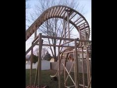 Home Made Back Yard Roller Coaster - For the ''DARE DEVIL'' in them & a few trips to the hospital too ! My youngest son would have loved this.....!!!