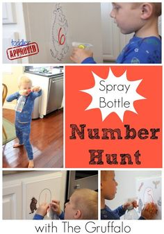 Toddler Approved!: Spray Bottle Number Hunt with The Gruffalo
