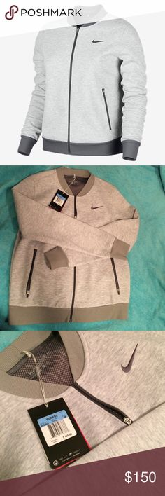 Very Rare Nike All Grey Bomber Jacket Rare All Gray Nike Bomber Jacket *No Trades Please!* Firm Price Nike Tops Sweatshirts & Hoodies