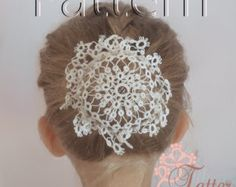PDF Tatting pattern Hair Net Star por JTatter en Etsy