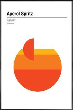 Aperol Spritz Recipe Poster in the group Prints / Kitchen at Desenio AB Orange Party, Photo Pop Art, Graphic Pattern, Geometric Graphic Design, Graphic Art, Geometric Poster, Aperol Spritz Recipe, Office Deco, Bar Deco