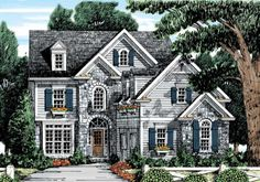 Dominion Plan from Frank Betz Associates Love the upstairs, especially the stepping up to a bedroom.