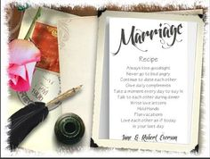 NEW Personalized Marriage Recipe Canvas Sign-White #Transitional