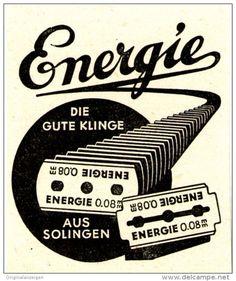 Original-Werbung/ Anzeige 1950 er Jahre - ENERGIE RASIERKLINGEN - ca.  45 x 50 mm