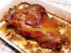 Pork Tenderloin Recipes, Pork Roast, Meat Recipes, Cooking Recipes, Pork Hock, Grill Oven, Czech Recipes, Food 52, Ham