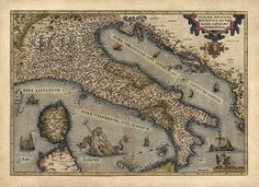 1570 map of Italy - the first atlas to be printed  @Shan @ Red Queen Miscellanea Monocle