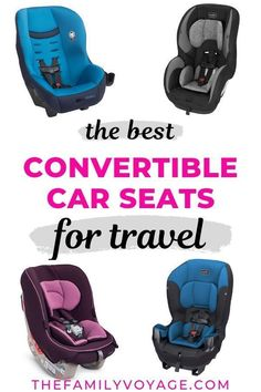 Choosing the best convertible car seat for travel - The Family Voyage - Wondering how to manage the worst part of traveling with kids? Grab one of these awesome, lightweigh - Toddler Travel, Travel With Kids, Family Travel, Family Trips, Family Vacations, Portable Car Seat, Best Convertible Car Seat, Travel Car Seat, Toddler Car Seat
