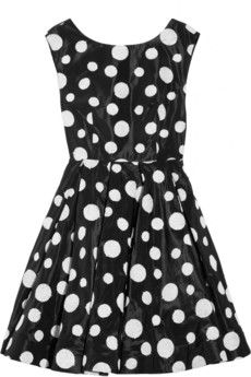 Alice + Olivia - Camelia polka-dot silk-blend organza dress