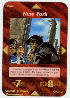 Illuminati Card Game -New York