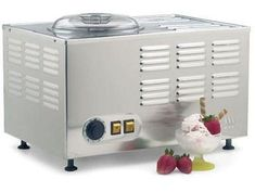 You can create the smoothest frozen desserts imaginable with the Musso Pola ice cream maker. Check out this small-batch ice cream maker right here! Commercial Ice Cream Machine, Gelato Machine, Gelato Maker, Ice Cream Maker Reviews, Snow Ice Cream, Dessert Makers, Fruit Sorbet, Paleo, Baked Alaska
