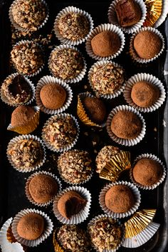 Creamy Dark Chocolate Whiskey Truffles via forkknifeswoon.com