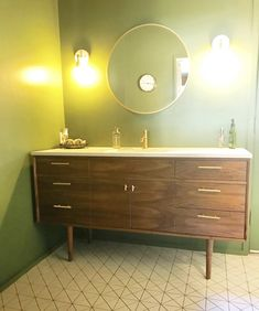 Mid Century Handcrafted Walnut Vanity Made In Los Angeles ,CA