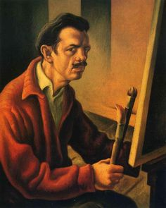 'Self Portrait', 1925, oil on canvas by Thomas Hart Benton (1889-1975, United States)