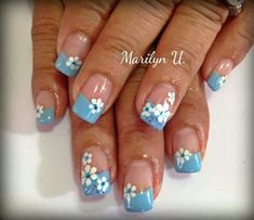 Heat Up Your Life with Some Stunning Summer Nail Art French Nail Art, French Nail Designs, Nail Designs Spring, Toe Nail Designs, Nail Polish Designs, Fingernail Designs, Diy Nails Cute, Fancy Nails, Pretty Nails