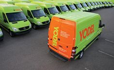 Yodel / AstSigns Van Wraps London   Yodel Vehicle Wrapping Project