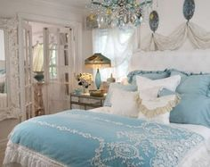 beautiful shabby chic bedroom in blue an httpideasforhome beautiful shabby chic style bedroom