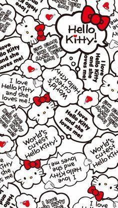 Hello Kitty Iphone Wallpaper, Hello Kitty Backgrounds, Sanrio Wallpaper, Wallpaper Iphone Cute, Cute Wallpapers, Wallpaper Stickers, Iphone Wallpapers, Hello Kitty Art, Hello Kitty Themes