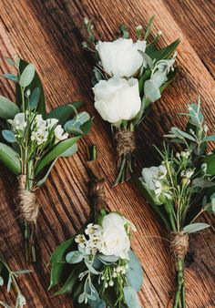 wedding flowers Simple elegance boutonnieres perfect for any wedding. wedding flowers Simple elegance boutonnieres perfect for any wedding. Wedding Flower Arrangements, Wedding Table Centerpieces, Flower Bouquet Wedding, Floral Wedding, Wedding Decorations, Tall Centerpiece, Bridal Bouquets, Centerpiece Ideas, Floral Arrangements