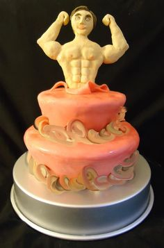 Sultry cake for a bachelorette cake  An edible stripper popping through a cake! stripper cake